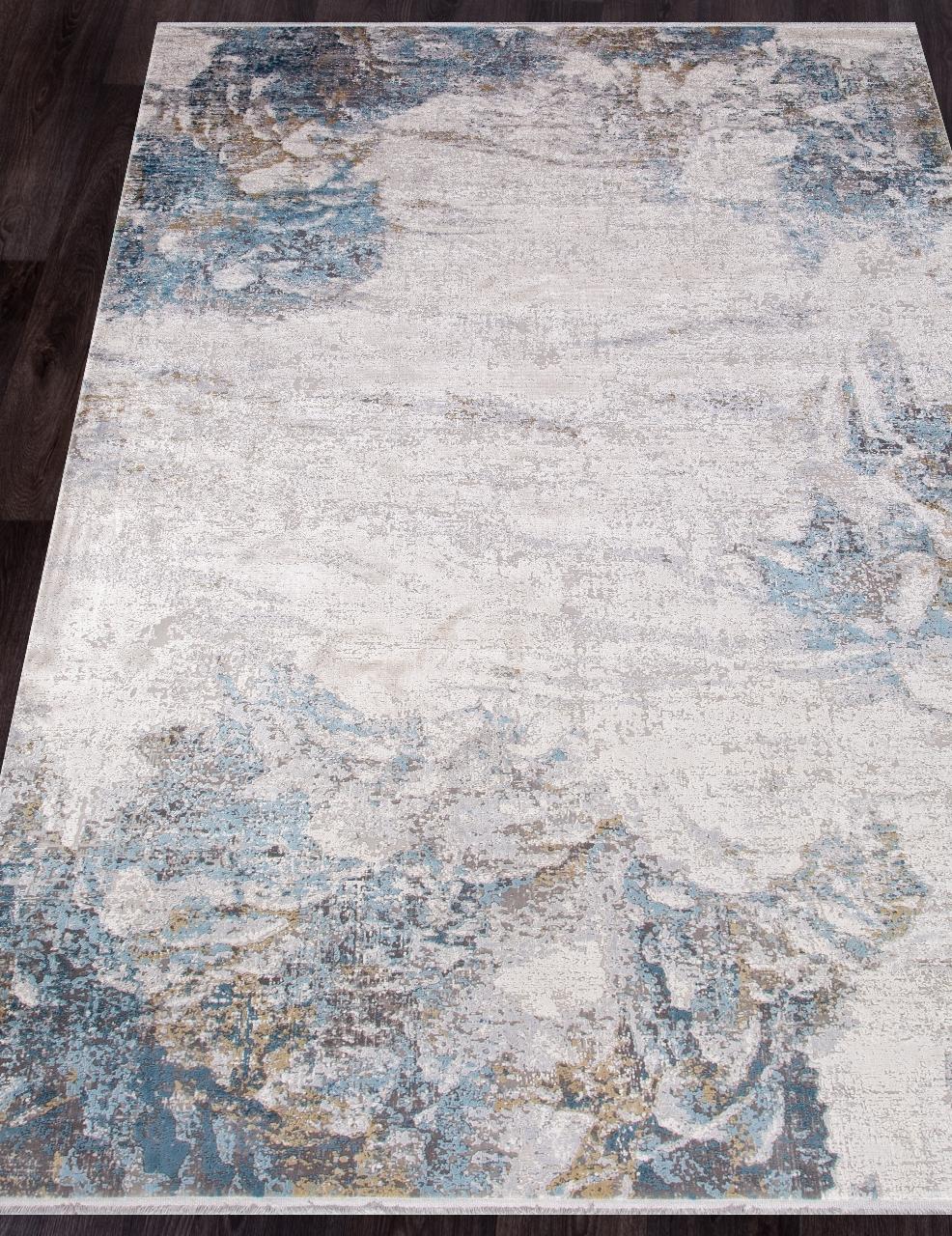 Ковер M456B - CREAM / BLUE - Прямоугольник - коллекция OLIMPOS