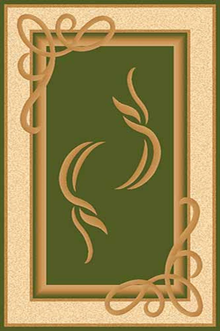 Ковер a704 - GREEN - Прямоугольник - коллекция OLYMPOS