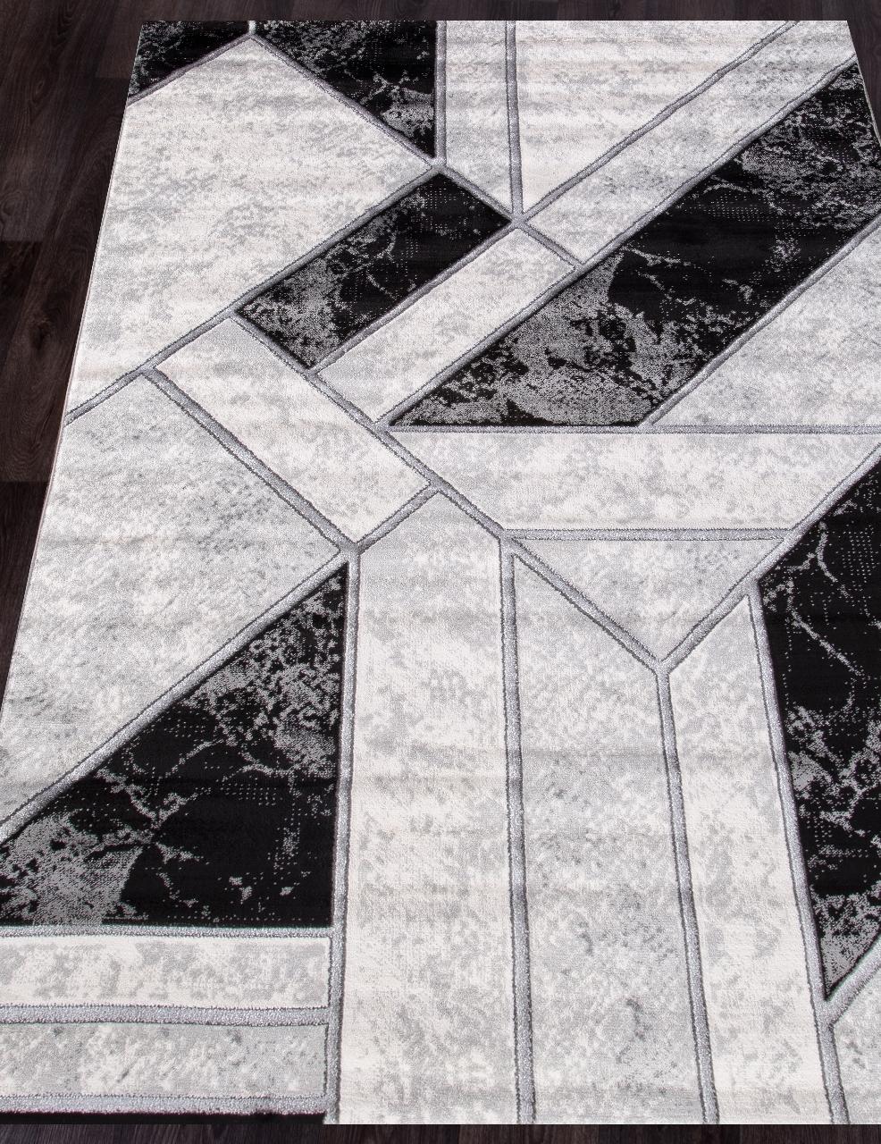 Ковер 04423S - SILVER / SILVER - Прямоугольник - коллекция OMEGA - фото 1
