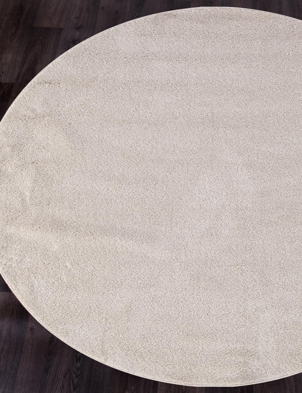 Ковер t600 - CREAM - Круг - коллекция PLATINUM