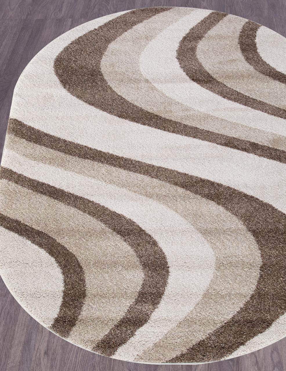 Ковер t617 - CREAM - Овал - коллекция PLATINUM