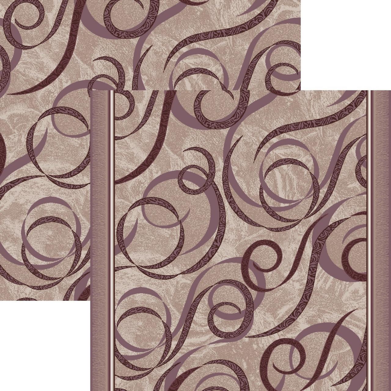 Ковровая дорожка p1304c2r - 93 - коллекция принт 8-ми цветная дорожка