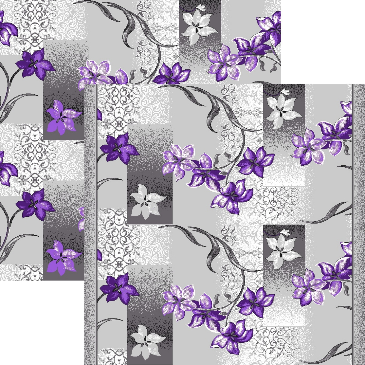 Ковровая дорожка p1236a2p - 50 - коллекция принт 8-ми цветное полотно