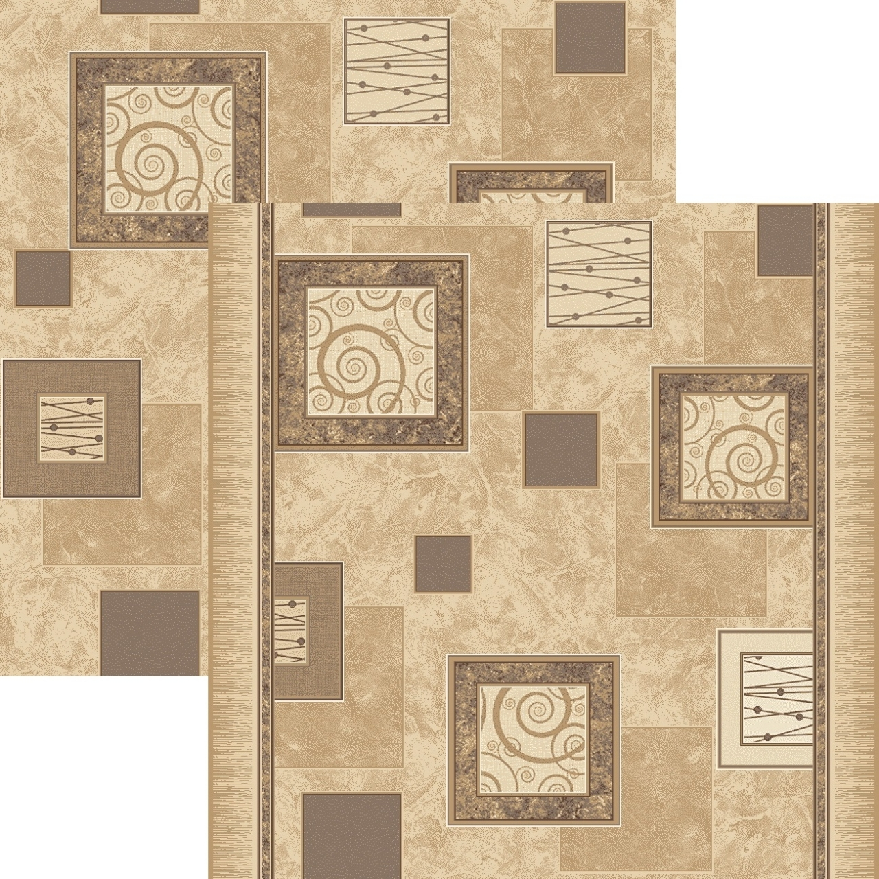 Ковровая дорожка p1563a5p - 103 - коллекция принт 8-ми цветное полотно - фото 1