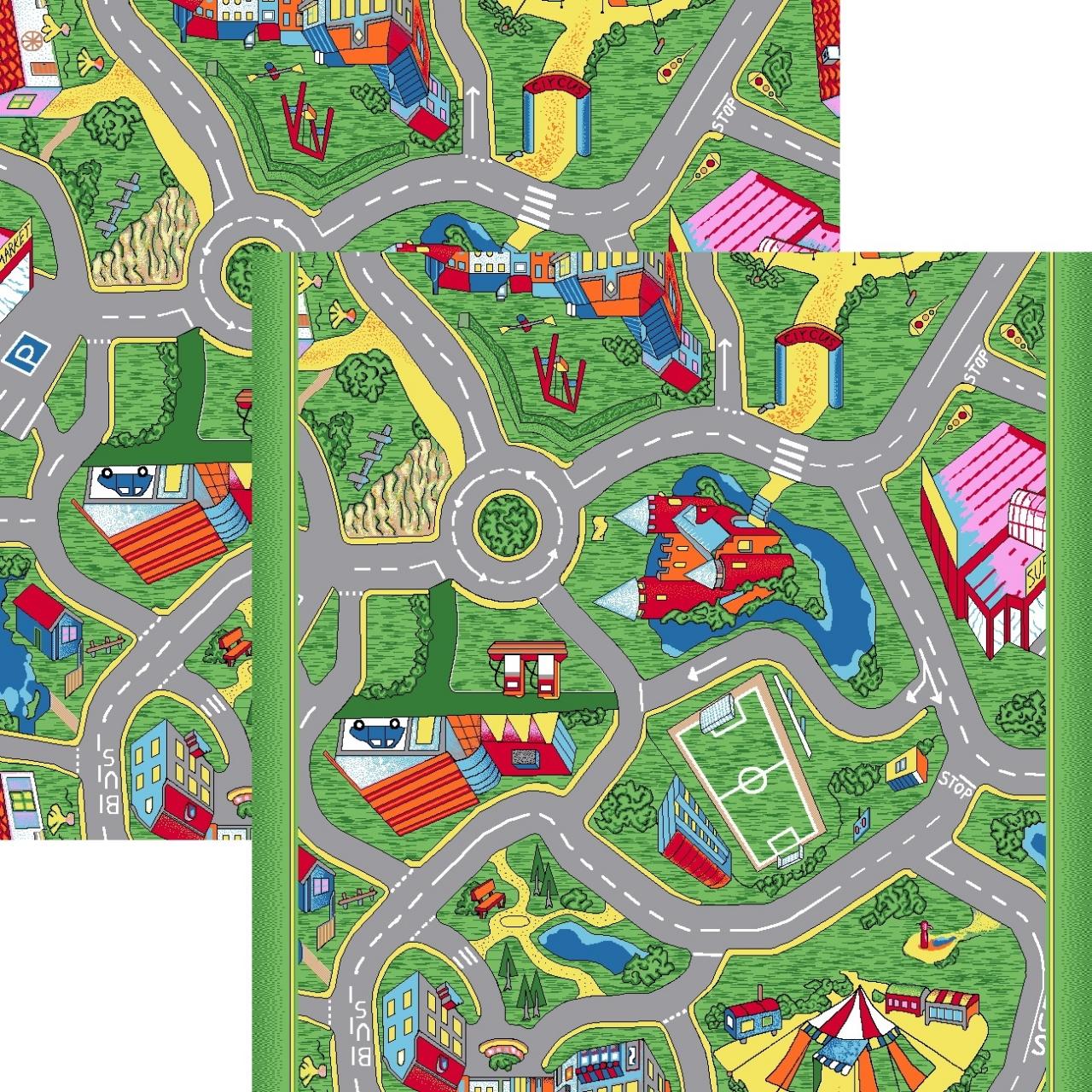 Ковер p1129b8p - 51 - Прямоугольник - коллекция принт обр 10-ти цветное полотно