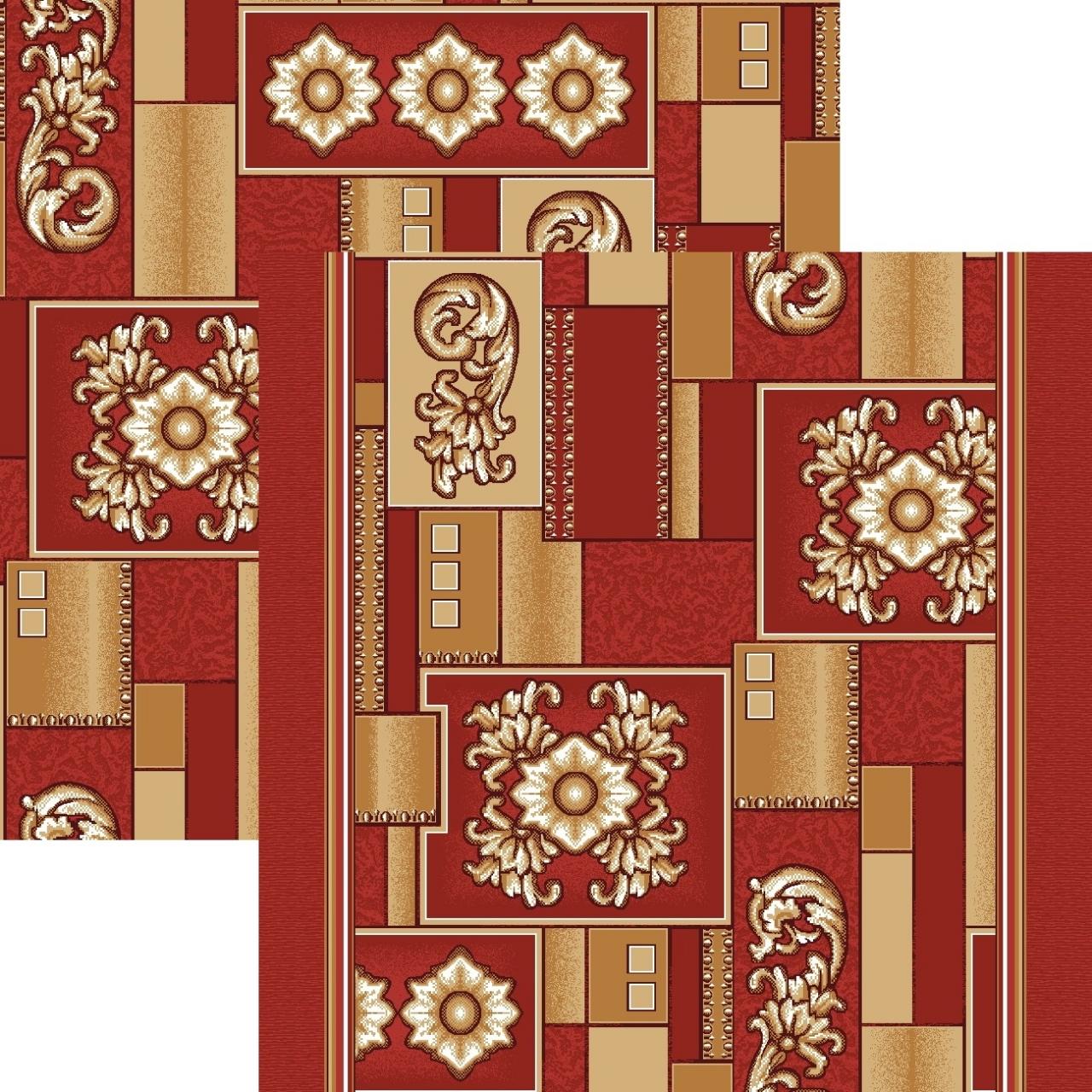 Ковер p1519a5p - 45 - Прямоугольник - коллекция принт обр 8-ми цветное полотно - фото 1