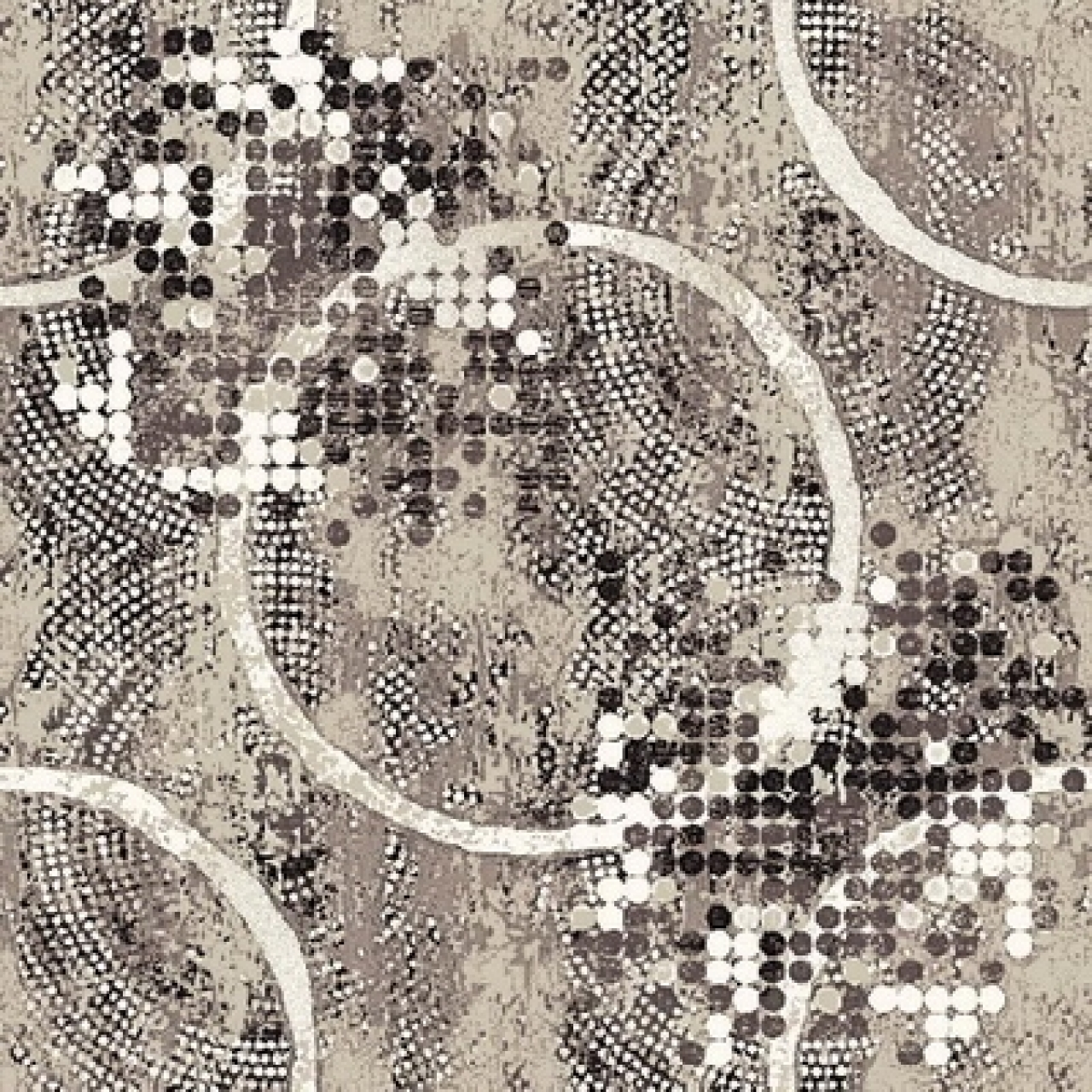 Ковер p1830c2p - 100 - Прямоугольник - коллекция принт обр 8-ми цветное полотно