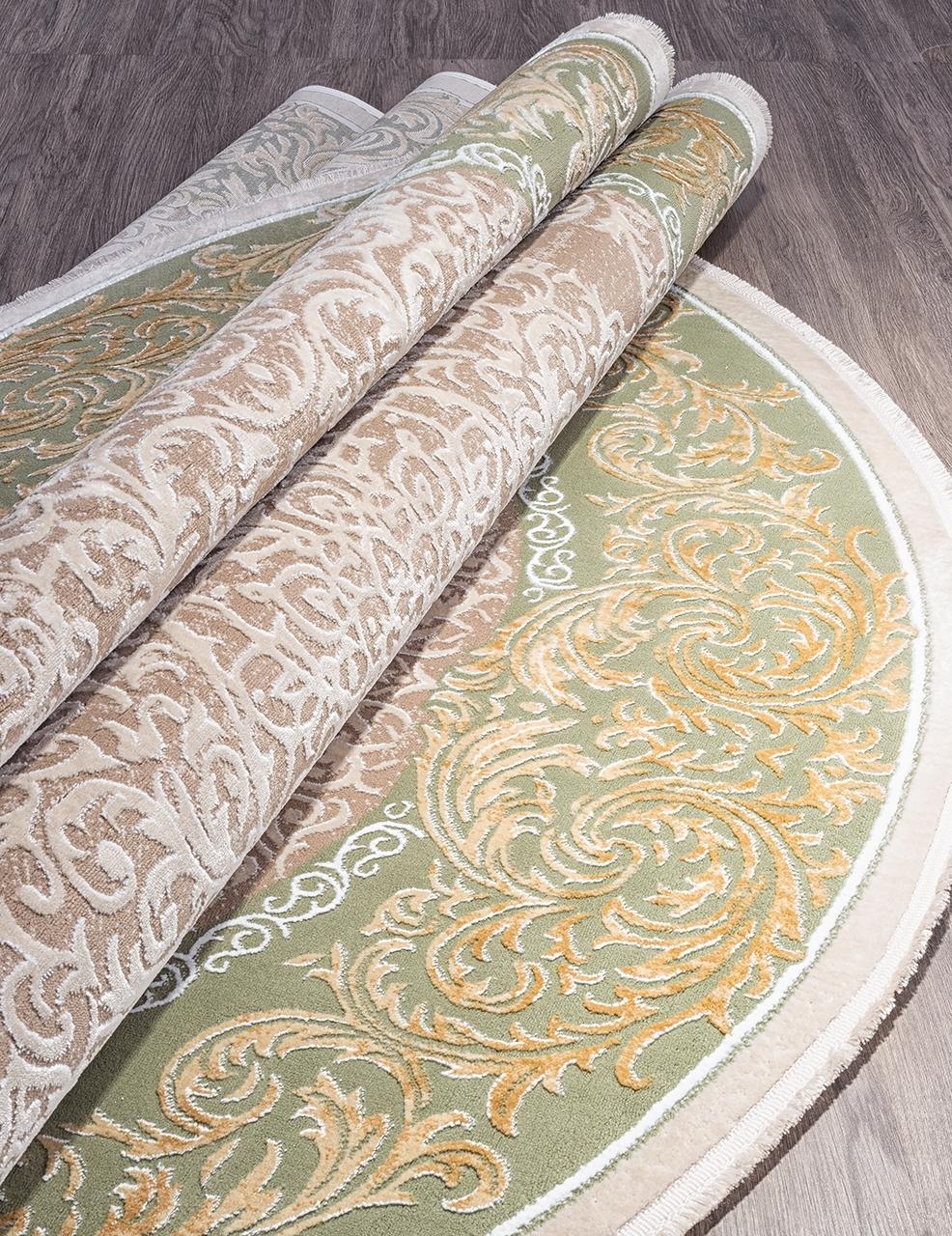 Ковер 33031 - 040 GREEN - Овал - коллекция QATAR - фото 4
