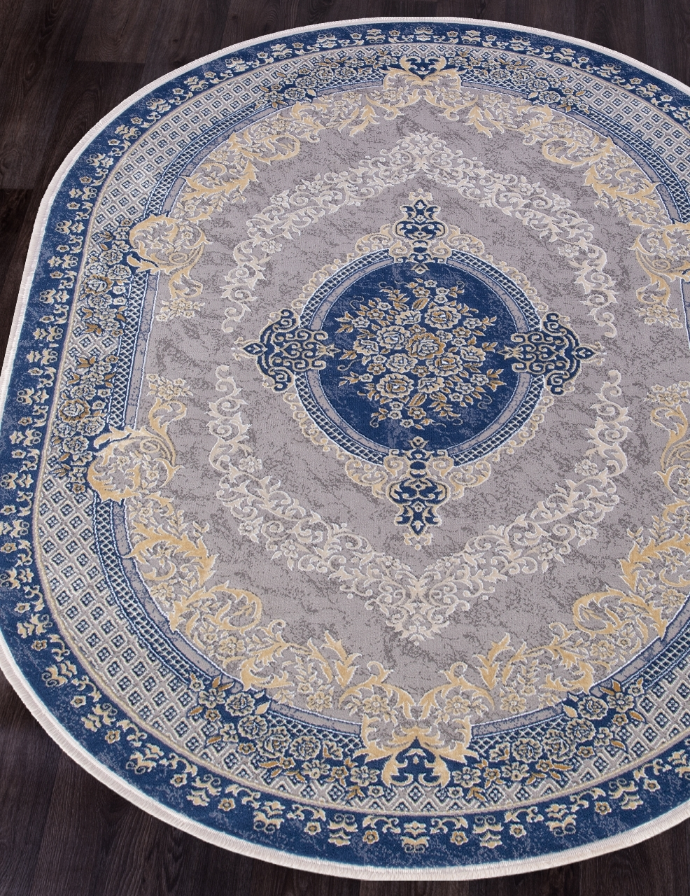 Ковер 33342 - 035 NAVY - Овал - коллекция QATAR