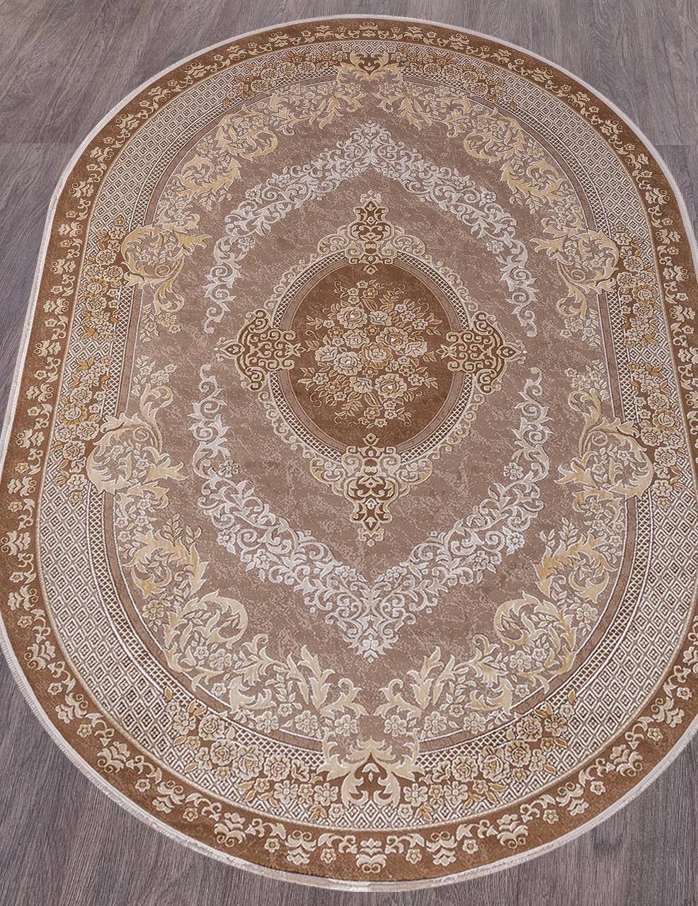 Ковер 33342 - 080 BROWN - Овал - коллекция QATAR