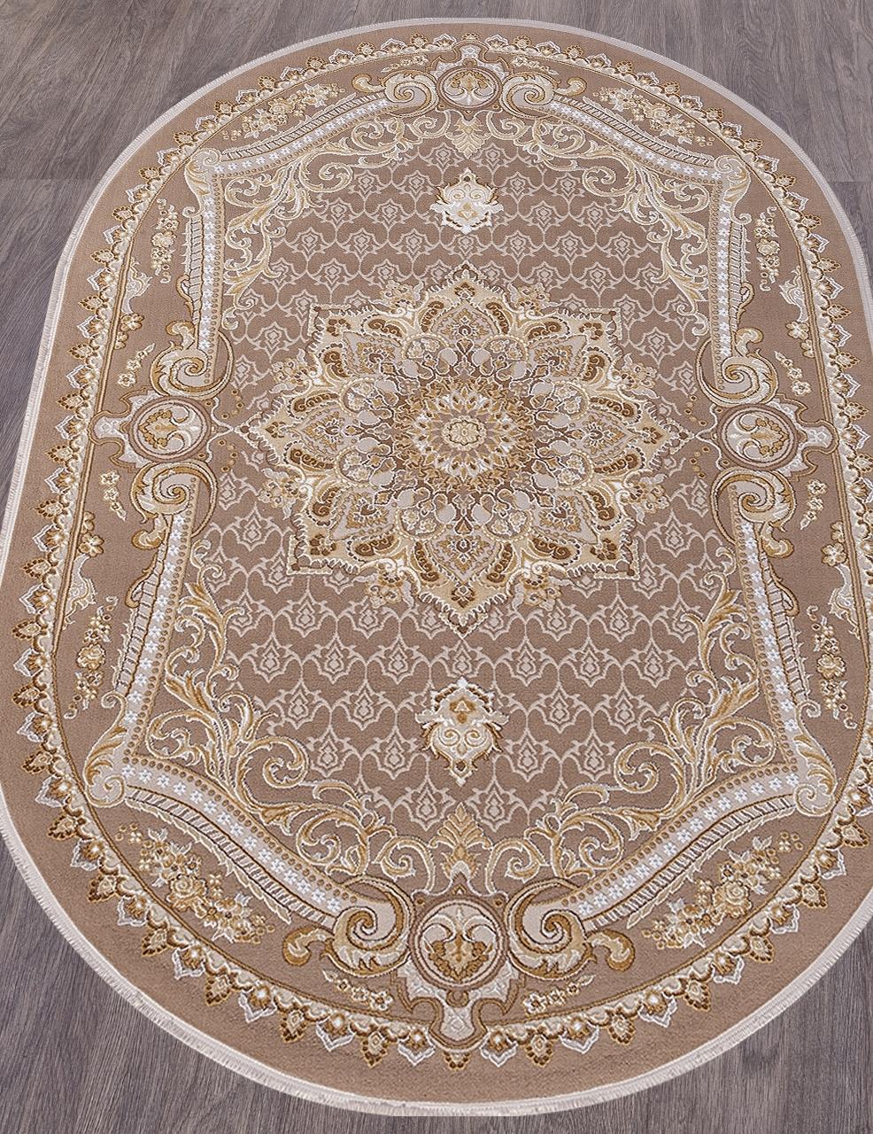 Ковер 33525 - 070 BEIGE - Овал - коллекция QATAR - фото 1