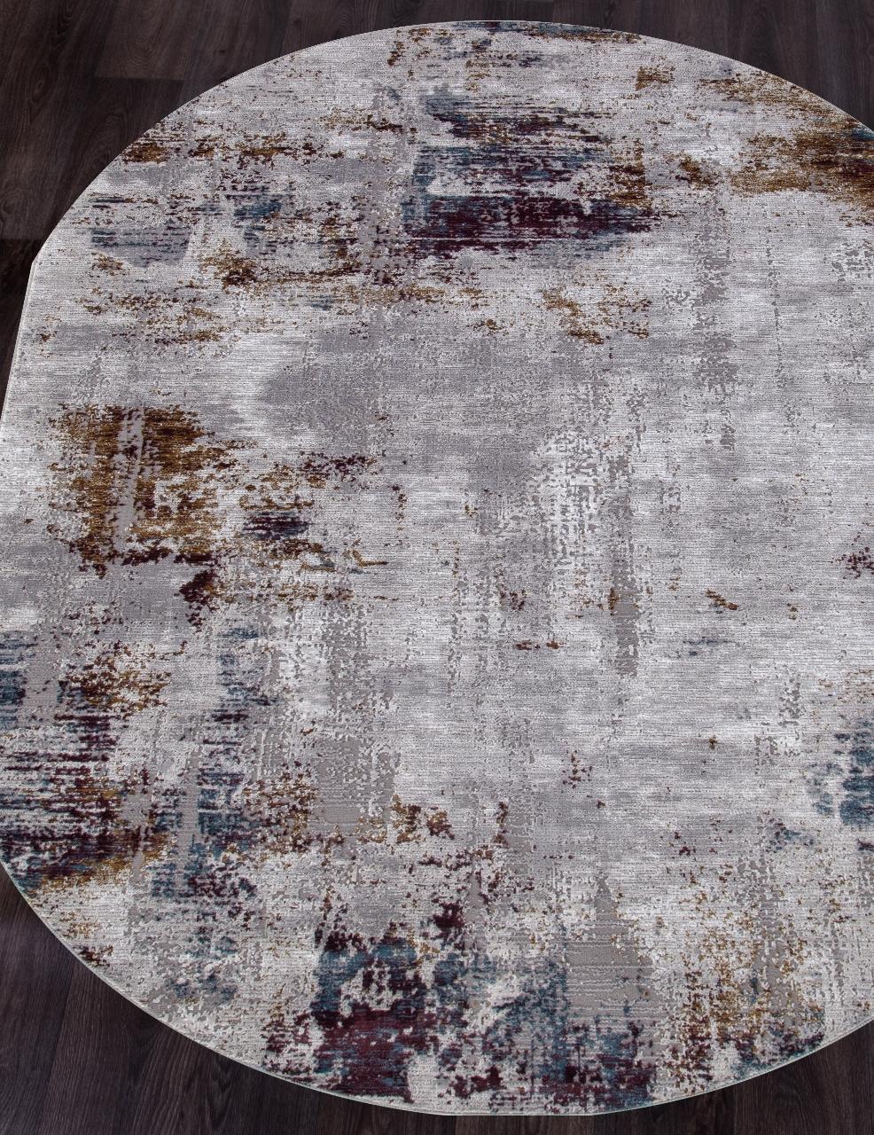 Ковер 03002G - GREY / GREY - Овал - коллекция QUANTUM