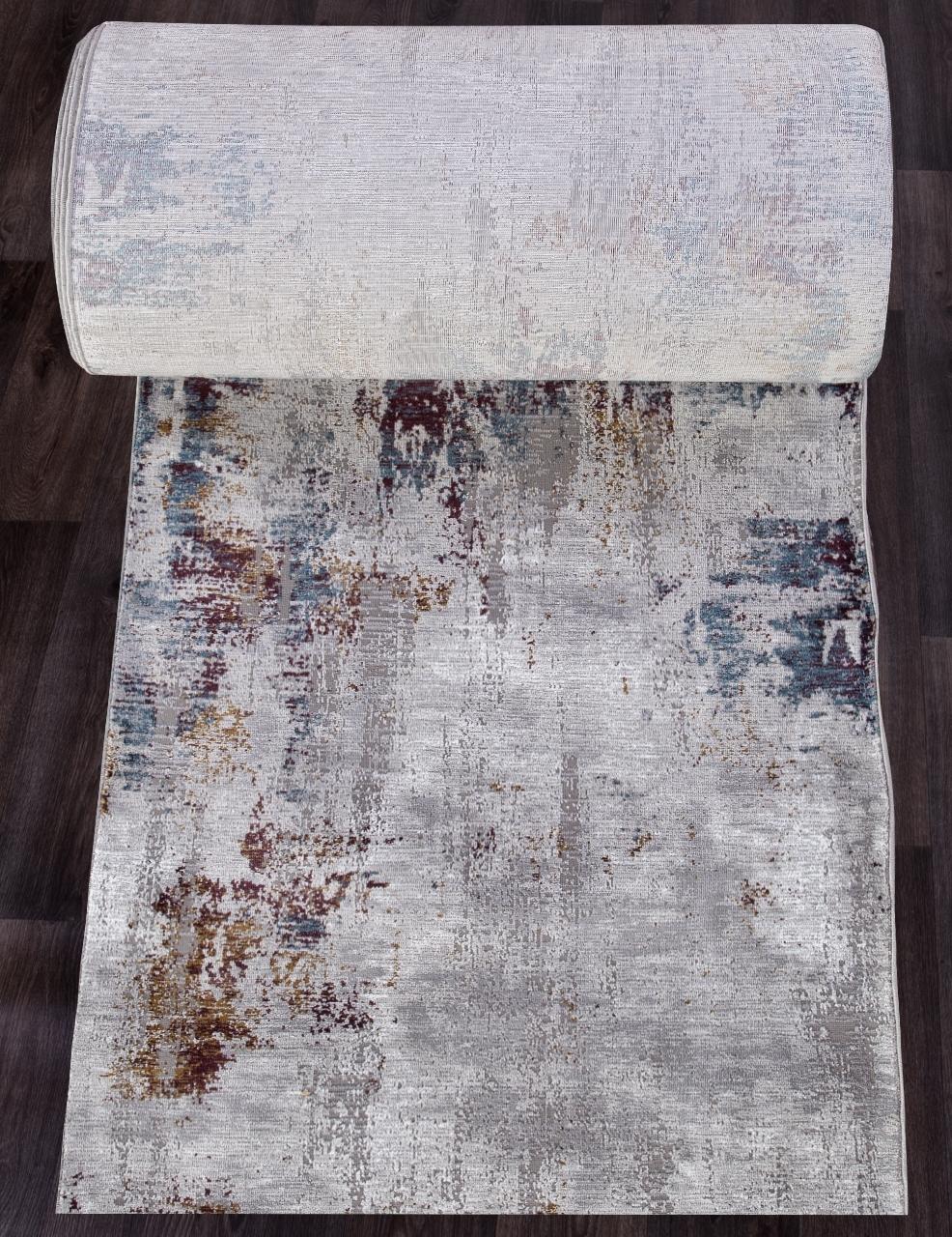 Ковровая дорожка 03002G - GREY / GREY - коллекция QUANTUM - фото 1