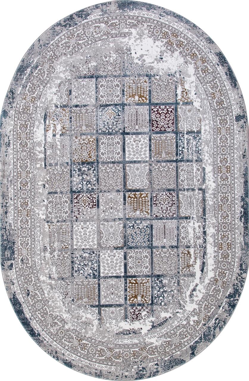 Ковер 03004G - GREY / GREY - Овал - коллекция QUANTUM - фото 2