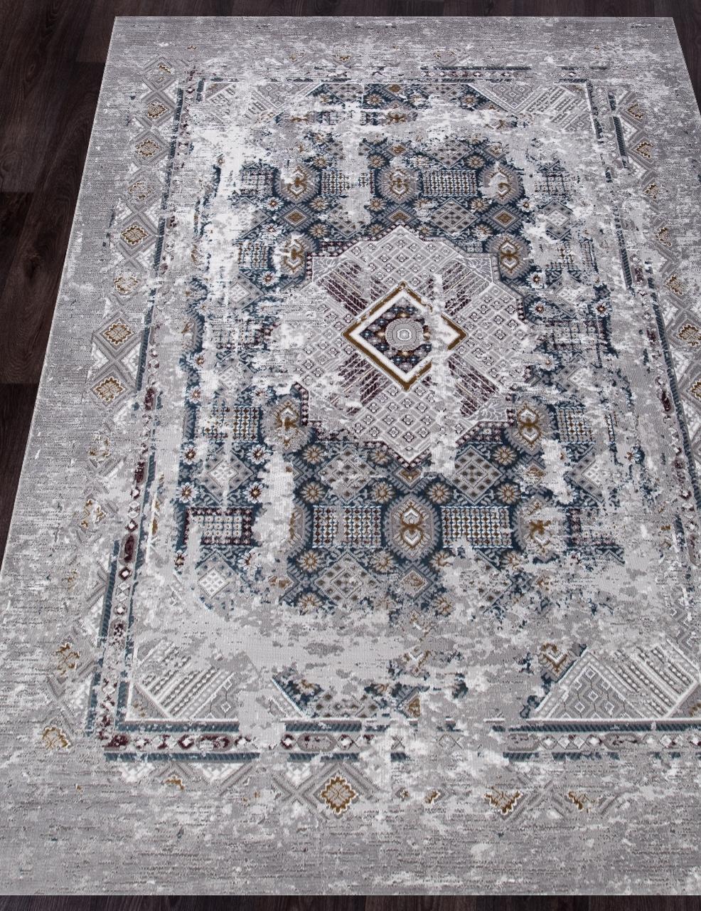 Ковер 03007G - GREY / GREY - Прямоугольник - коллекция QUANTUM