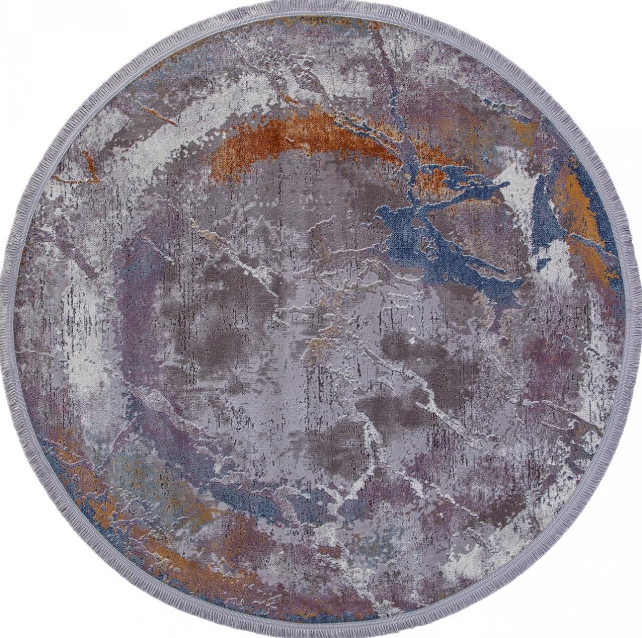 Ковер 05708G - GREY / GREY - Овал - коллекция RIM - фото 2