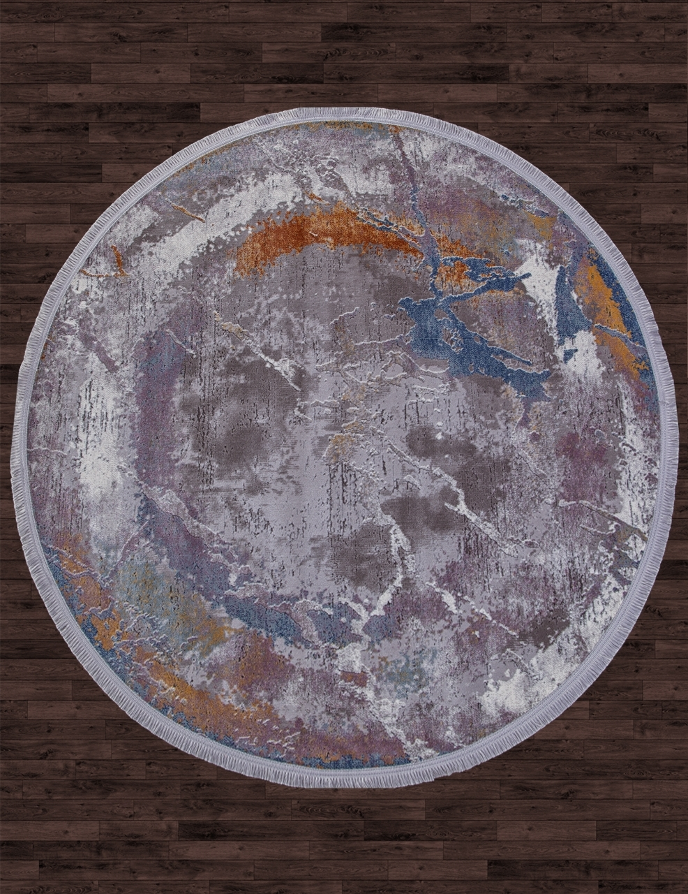 Ковер 05708G - GREY / GREY - Овал - коллекция RIM - фото 1