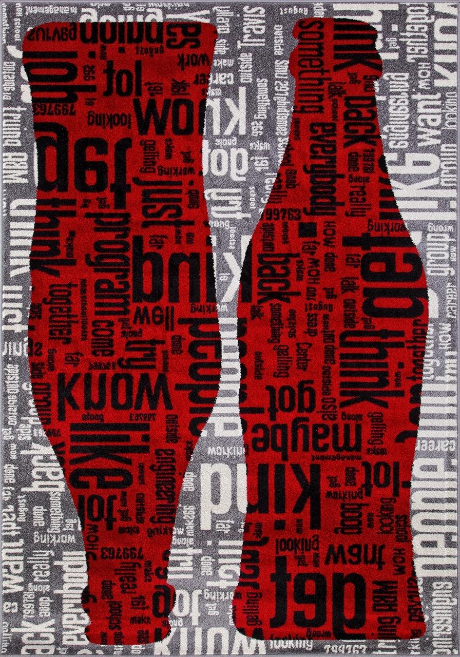 Ковер C081 - GRAY-RED - Прямоугольник - коллекция RIO - фото 2