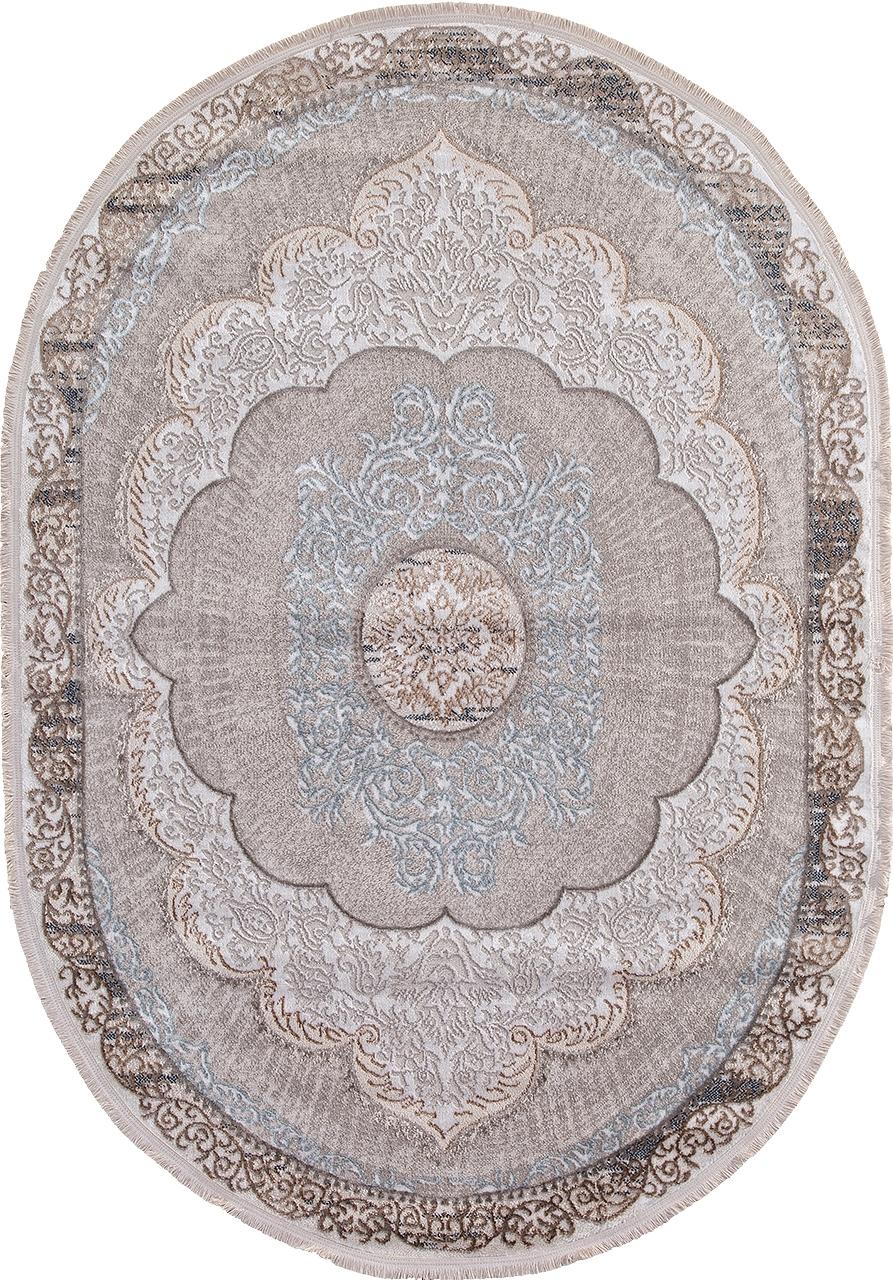 Ковер 7430B - L.BLUE / CREAM - Овал - коллекция RODOS - фото 2