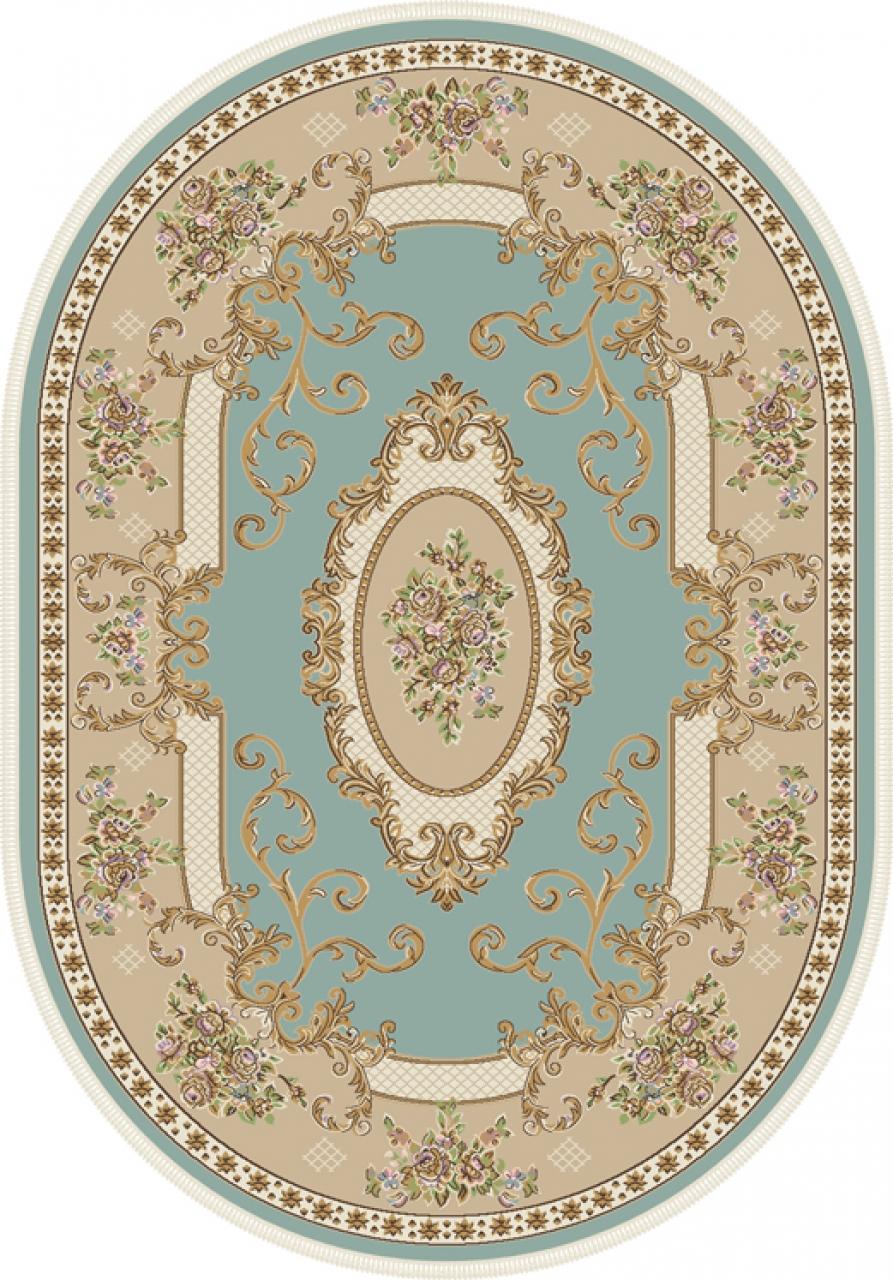 Ковер D703 - BLUE - Овал - коллекция ROXY