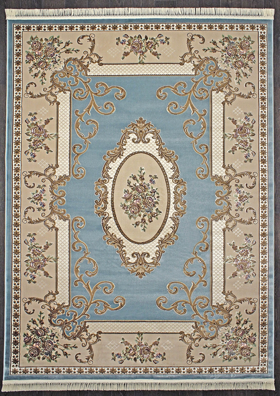 Ковер D703 - BLUE - Прямоугольник - коллекция ROXY - фото 1