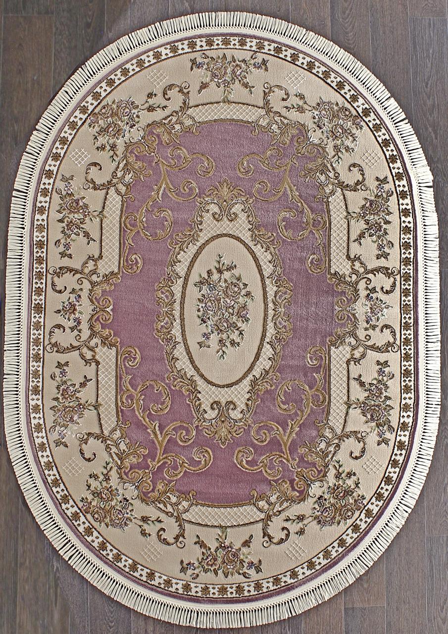 Ковер D703 - PURPLE - Овал - коллекция ROXY