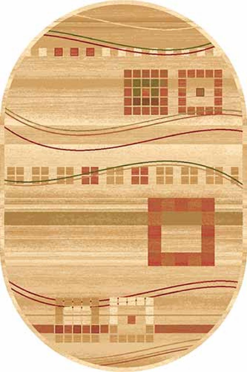 Ковер d080 - CREAM - Овал - коллекция SAN REMO - фото 1