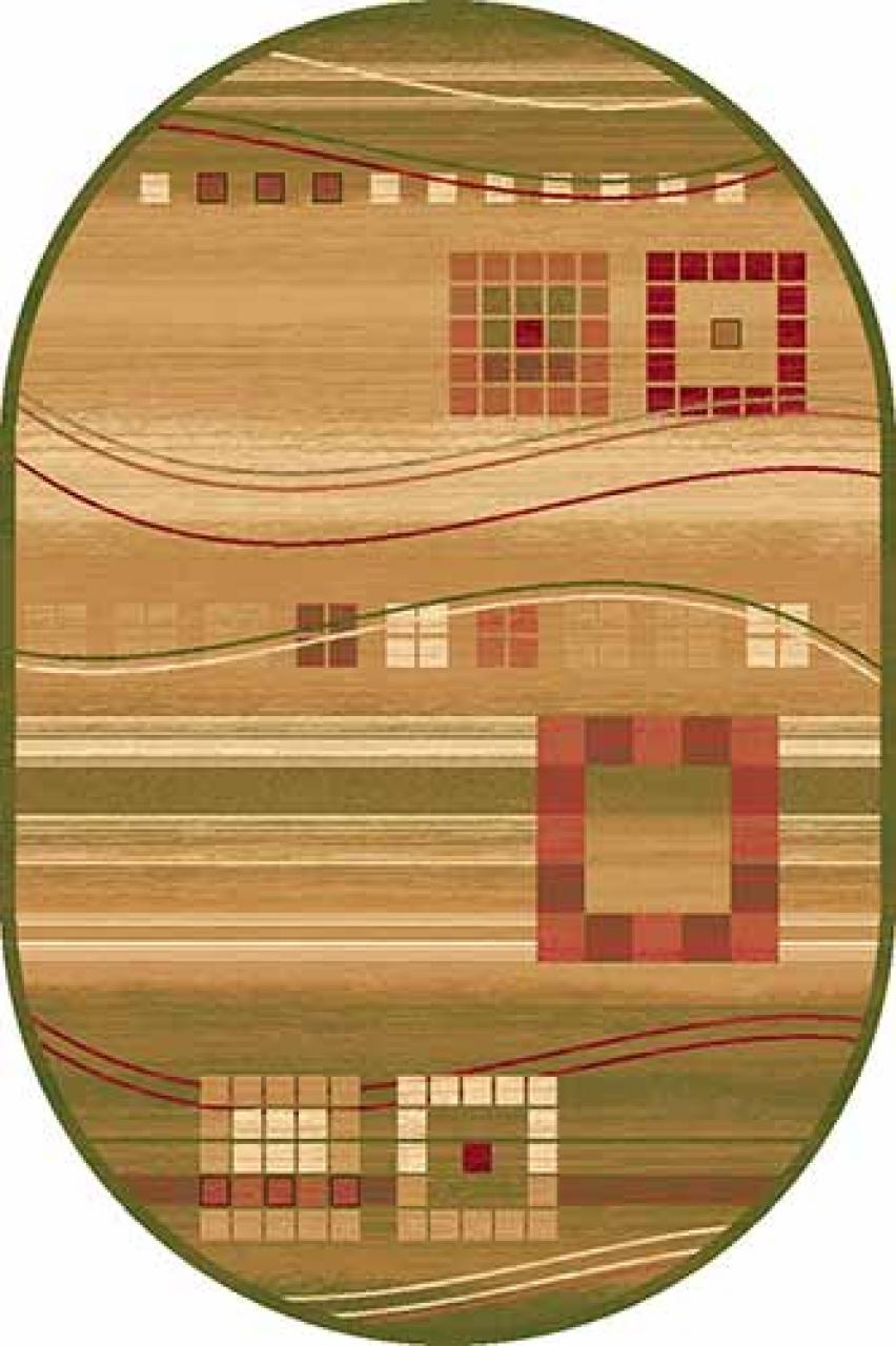 Ковер d080 - GREEN - Овал - коллекция SAN REMO