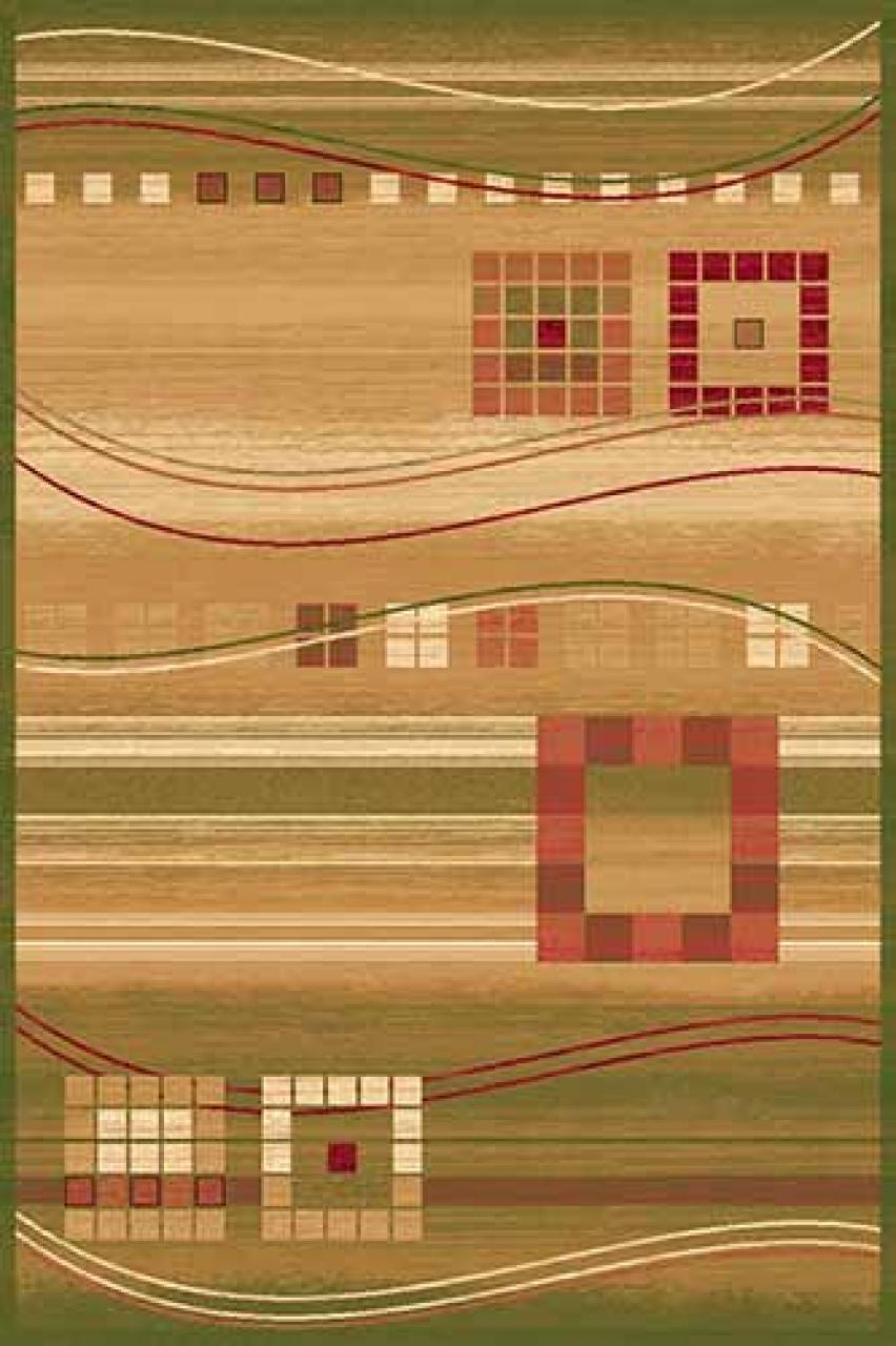 Ковер d080 - GREEN - Прямоугольник - коллекция SAN REMO - фото 1