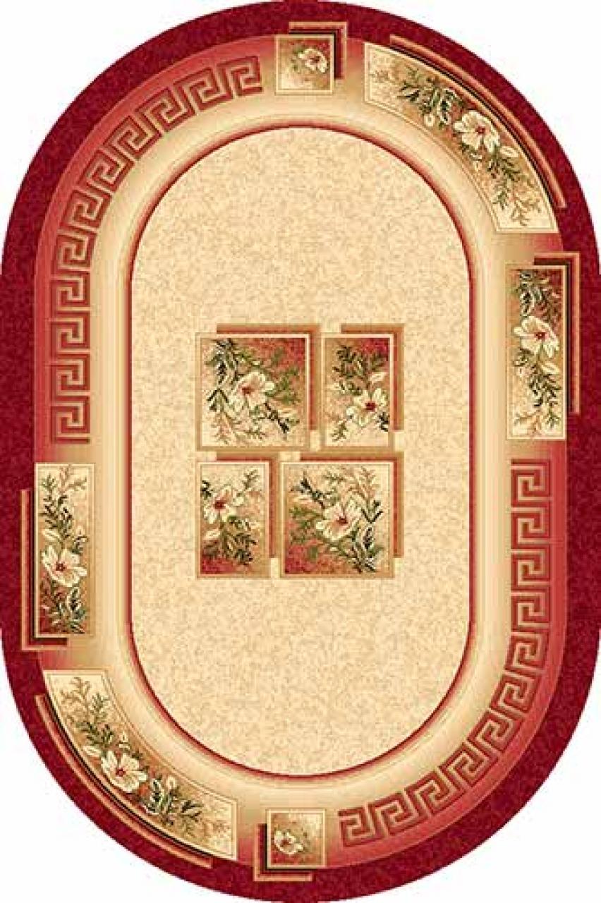 Ковер w010 - RED - Овал - коллекция SAN REMO