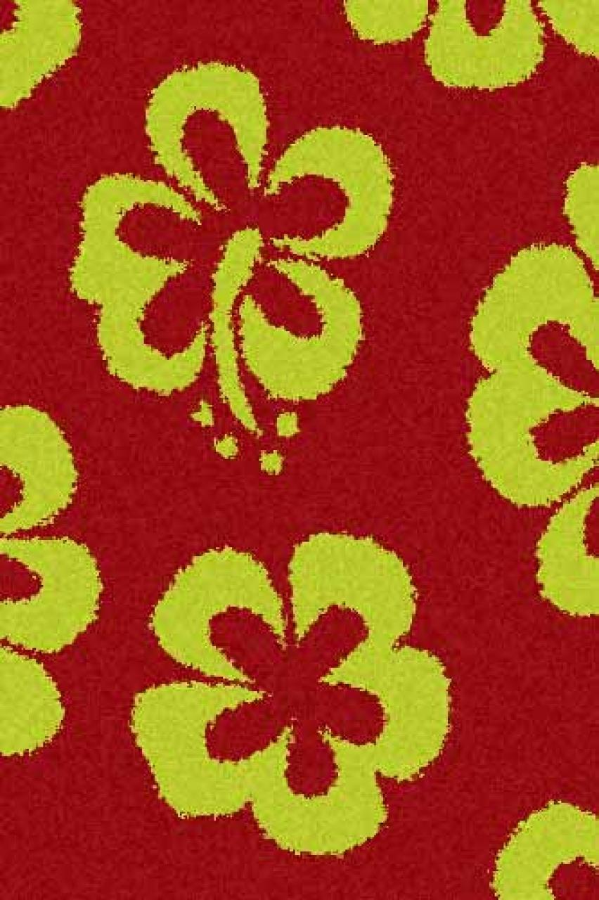 Ковер s605 - RED-GREEN - Прямоугольник - коллекция SHAGGY ULTRA