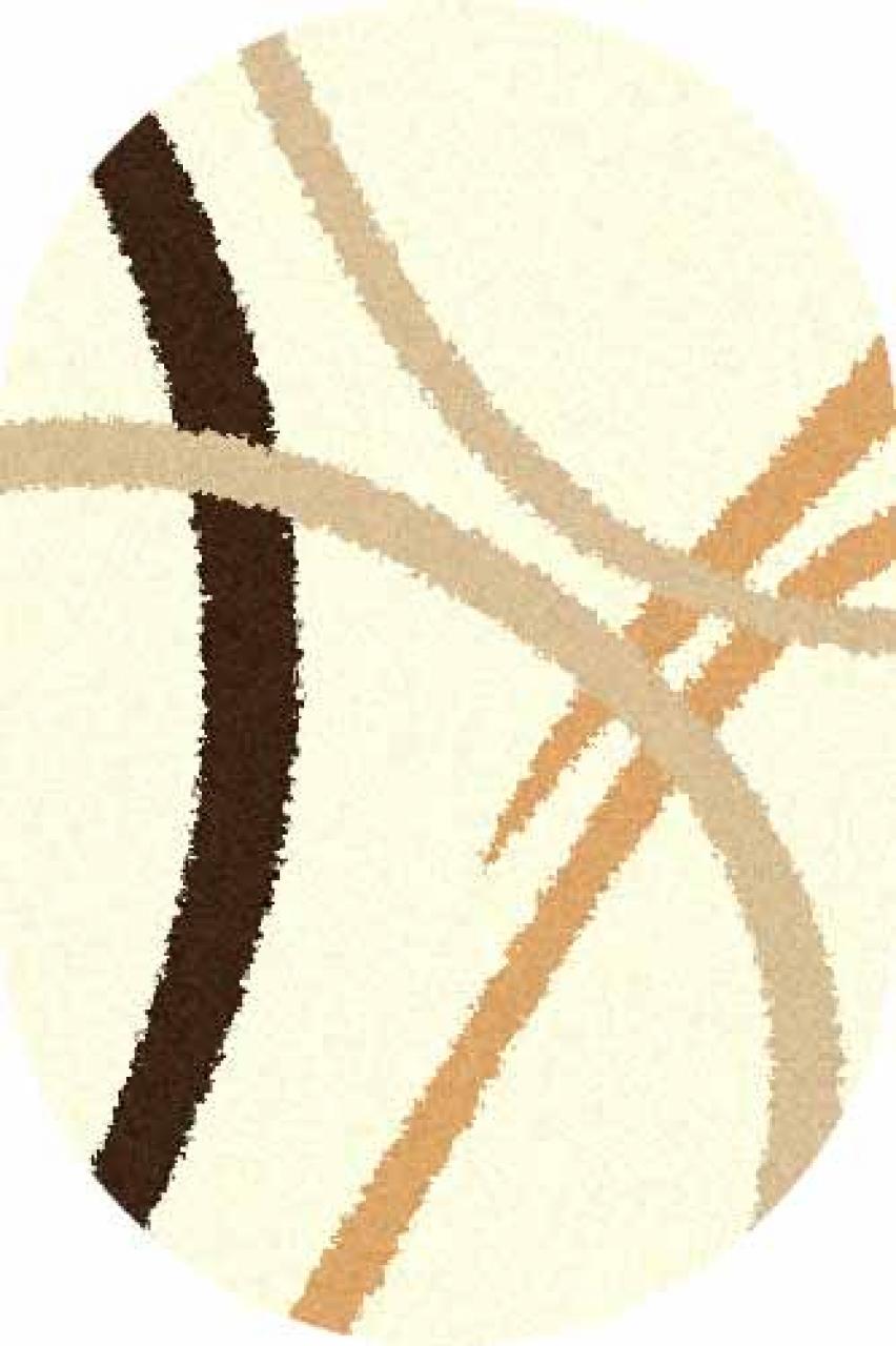 Ковер s606 - CREAM - Овал - коллекция SHAGGY ULTRA - фото 1