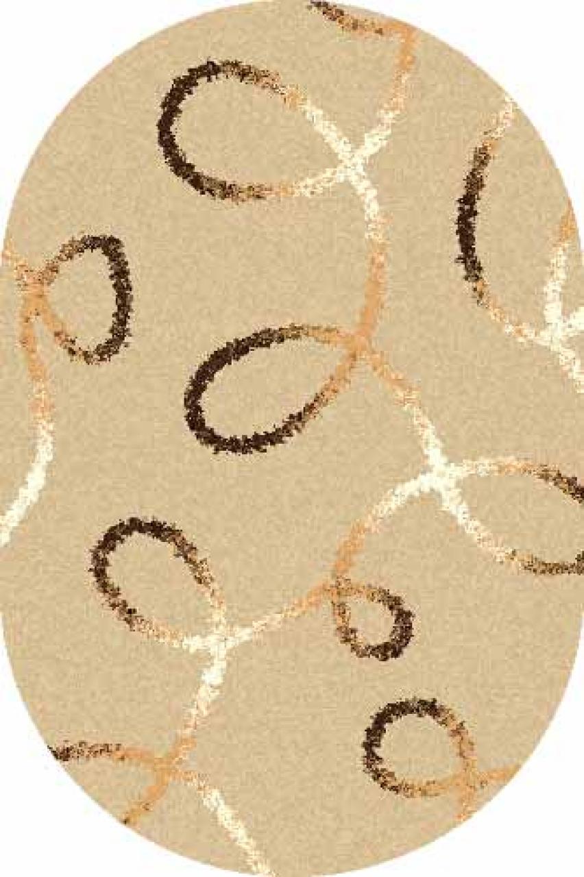 Ковер s612 - BEIGE - Овал - коллекция SHAGGY ULTRA