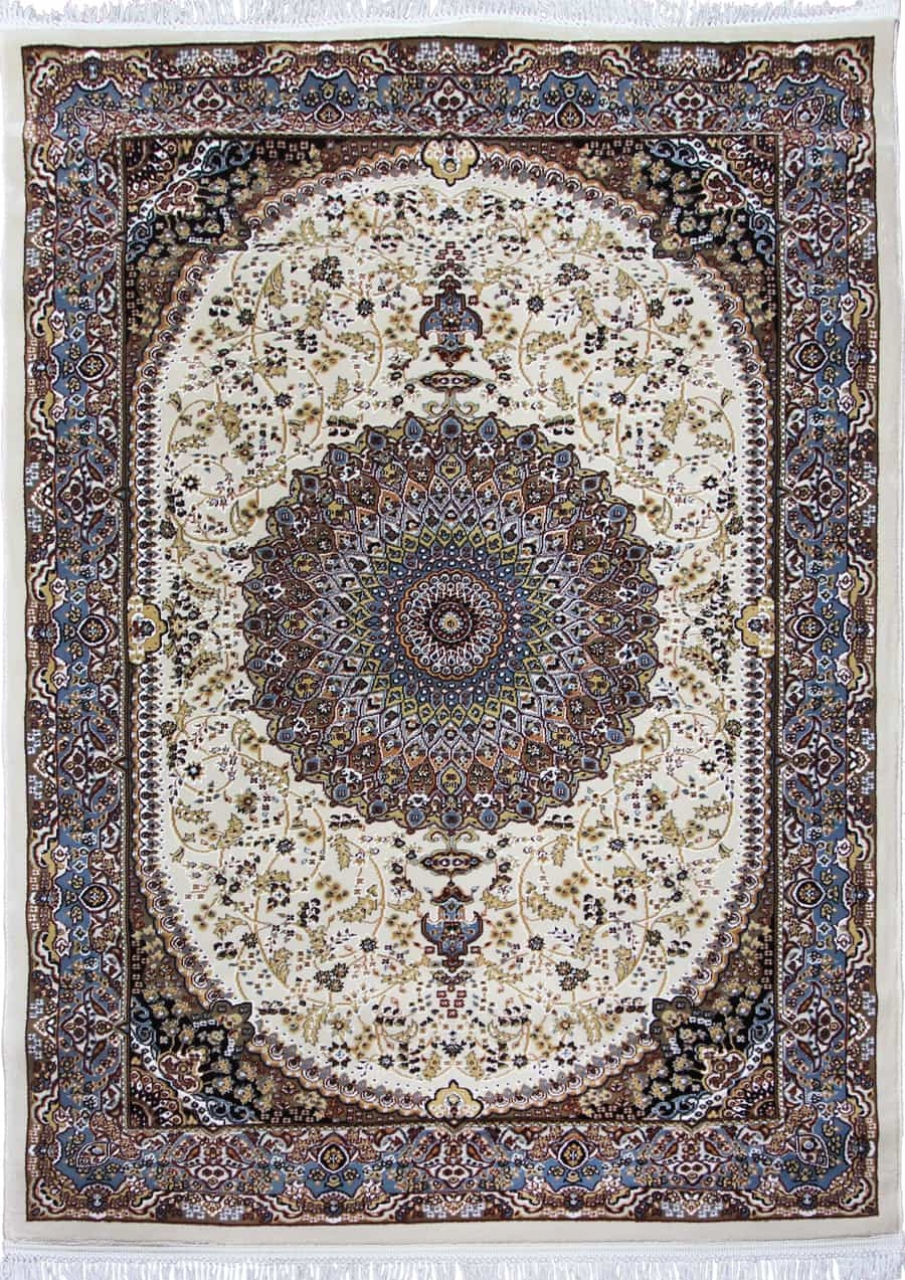 Ковер d205 - CREAM-BLUE - Прямоугольник - коллекция SHAHREZA - фото 2