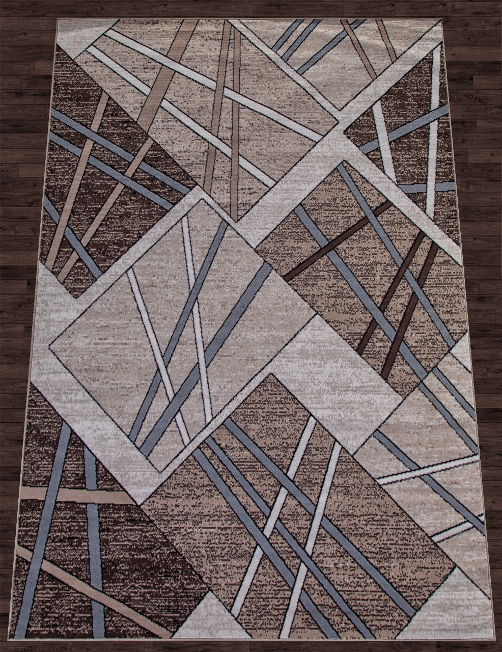 Ковер D487 - BEIGE-BROWN - Прямоугольник - коллекция SIERRA