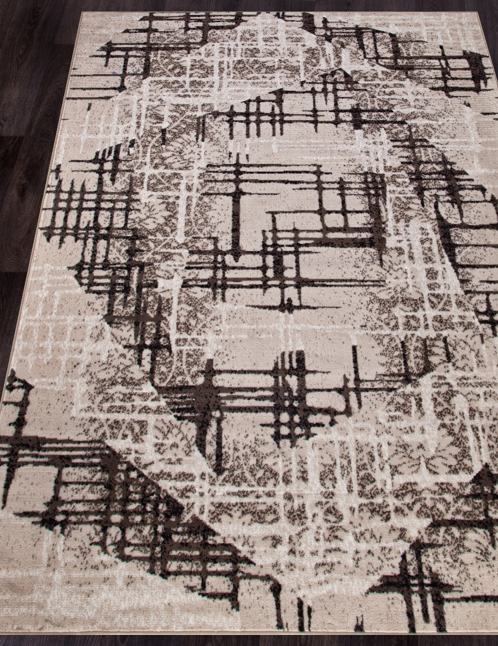 Ковер D708 - BEIGE-BROWN - Прямоугольник - коллекция SIERRA - фото 1
