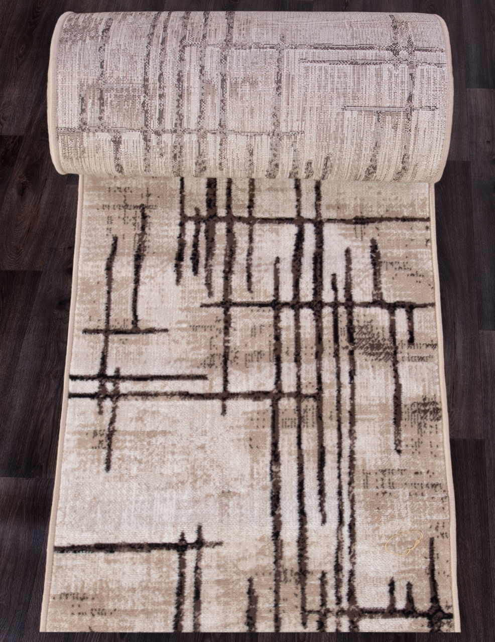 Ковровая дорожка D717 - BEIGE-BROWN - коллекция SIERRA - фото 1