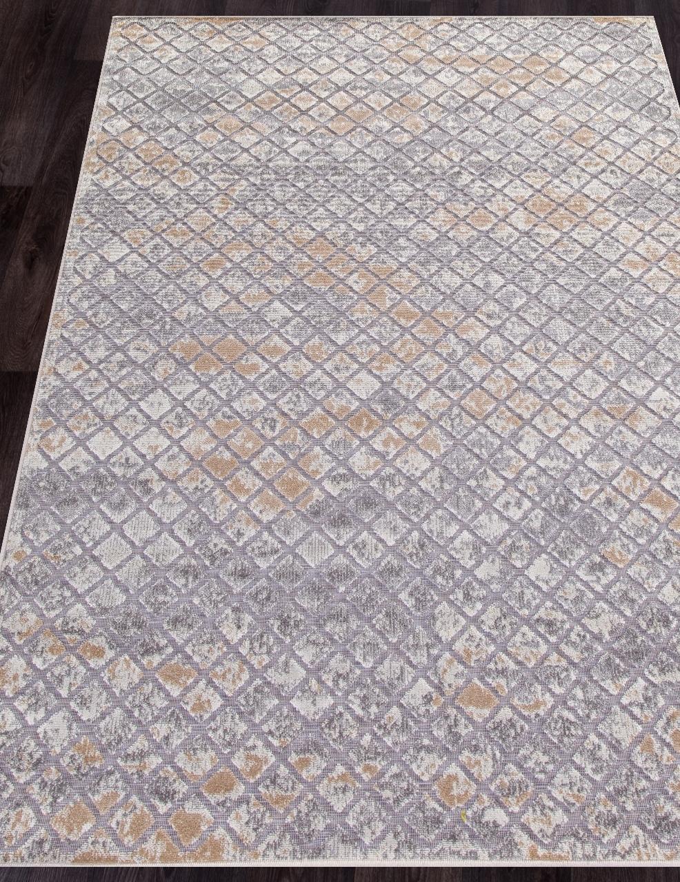 Ковер 0406 - BROWN-BEIGE - Прямоугольник - коллекция SIGMA
