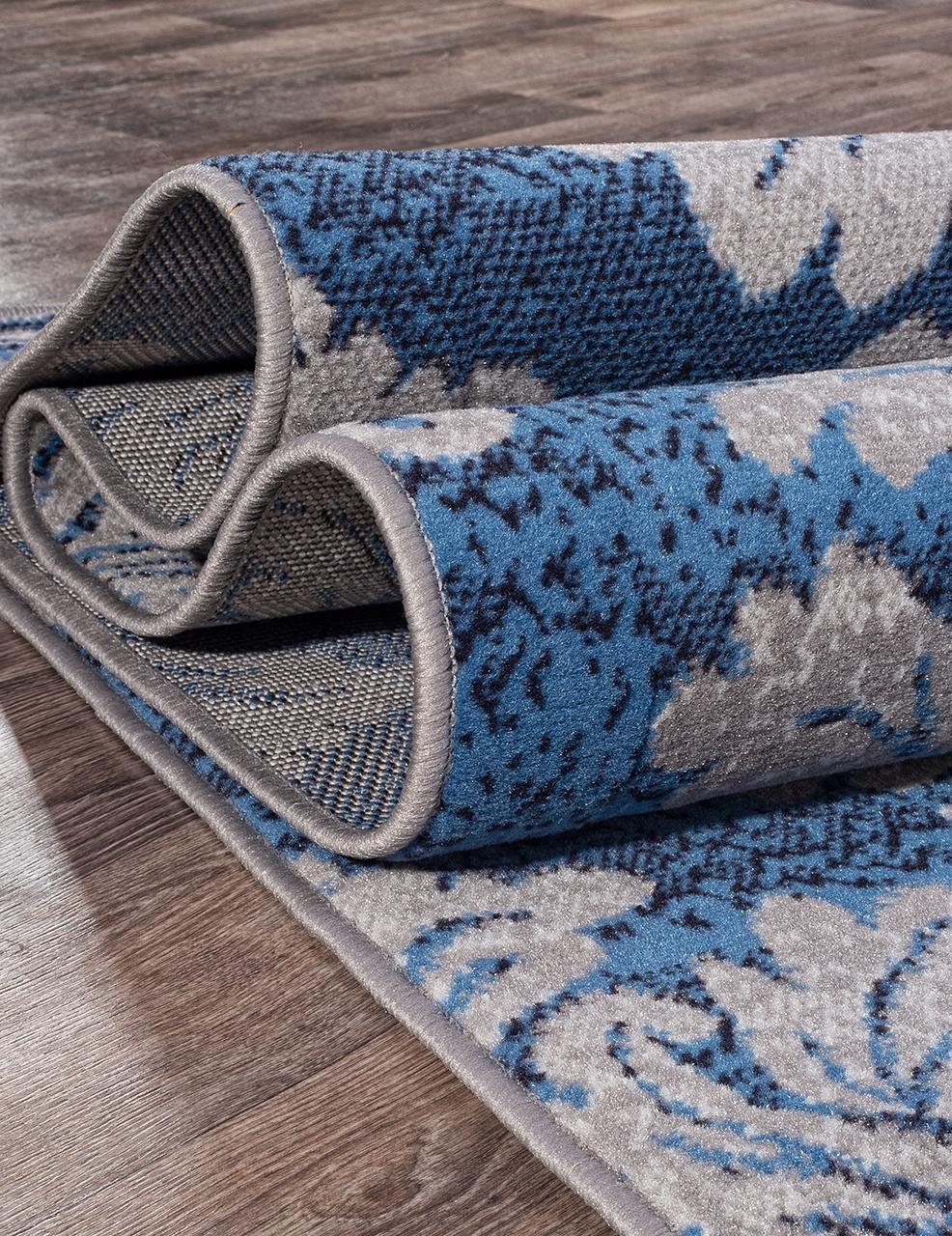 Ковер d213 - GRAY-BLUE - Прямоугольник - коллекция SILVER - фото 3