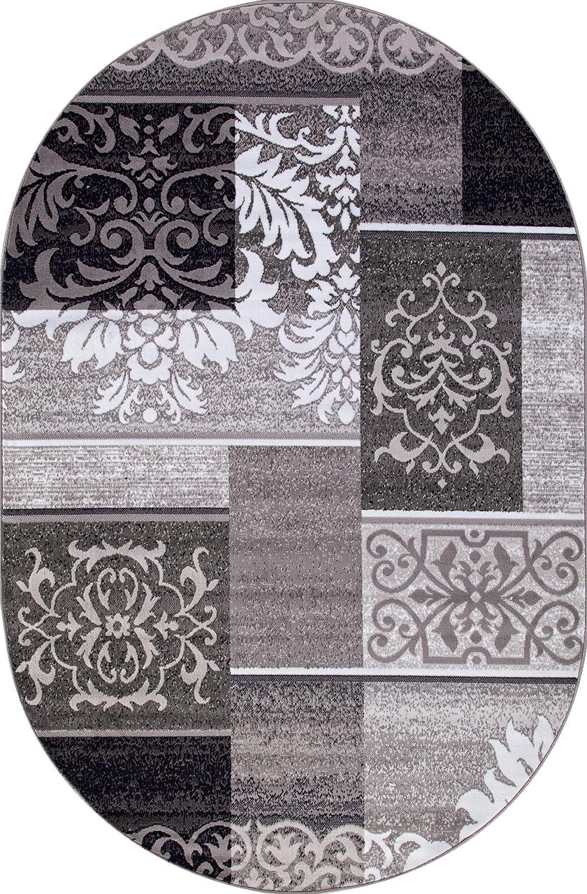 Ковер d216 - GRAY - Овал - коллекция SILVER - фото 2
