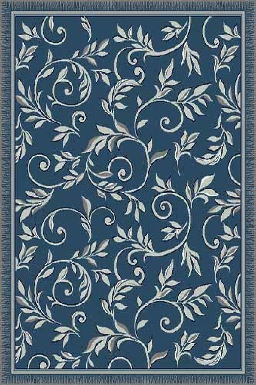 Ковер d230 - BLUE - Прямоугольник - коллекция SILVER