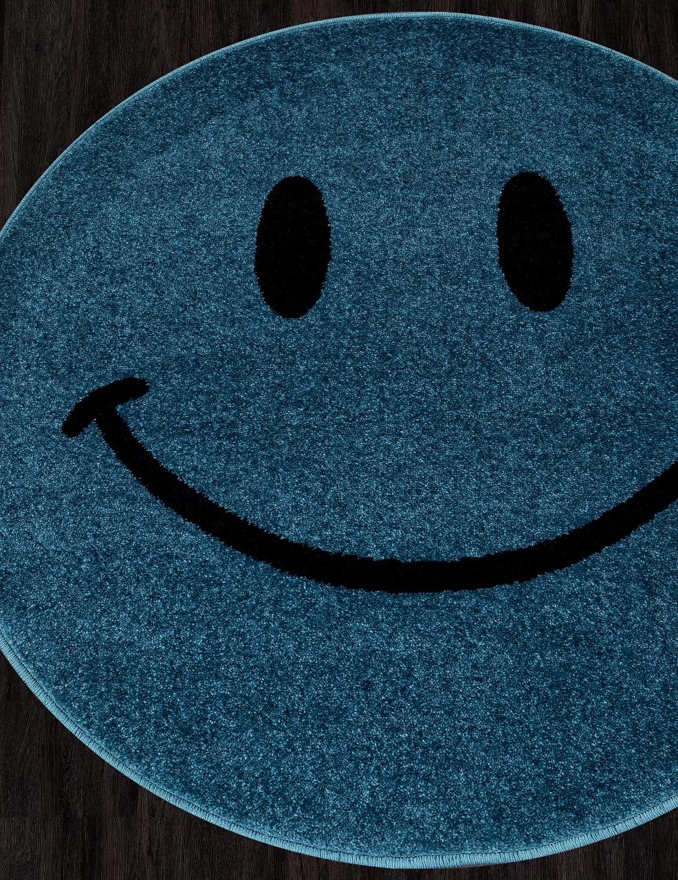 Ковер NC19 - BLUE - Круг - коллекция SMILE