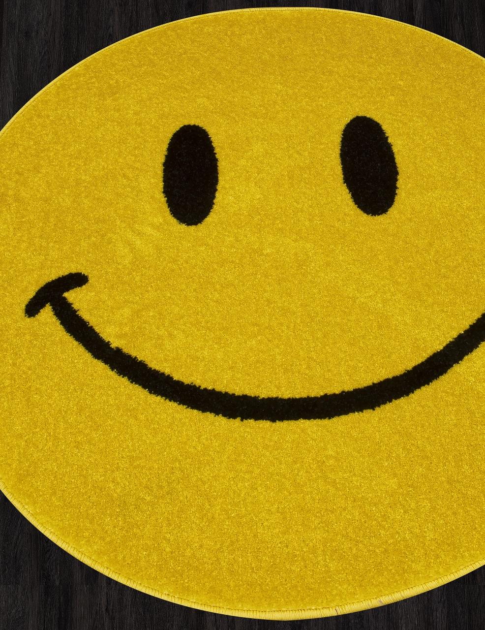 Ковер NC19 - YELLOW - Круг - коллекция SMILE