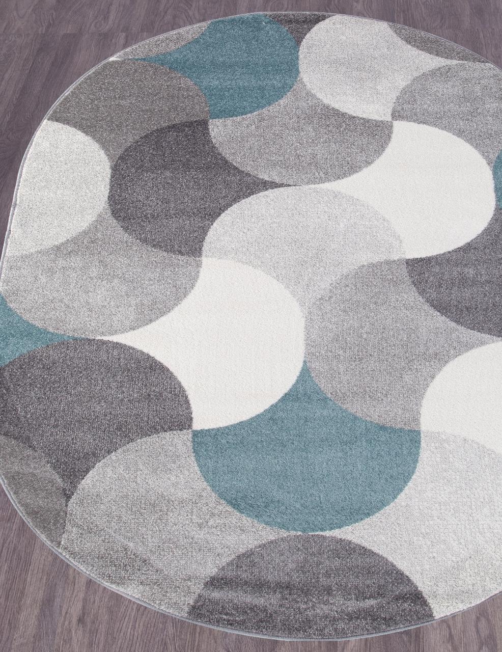Ковер 2257 - LIGHT GRAY - Овал - коллекция SOFIT - фото 1