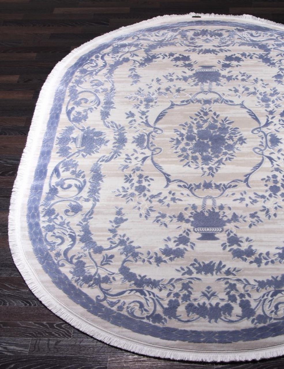 Ковер 08330T - BLUE / BLUE - Овал - коллекция TRUVA