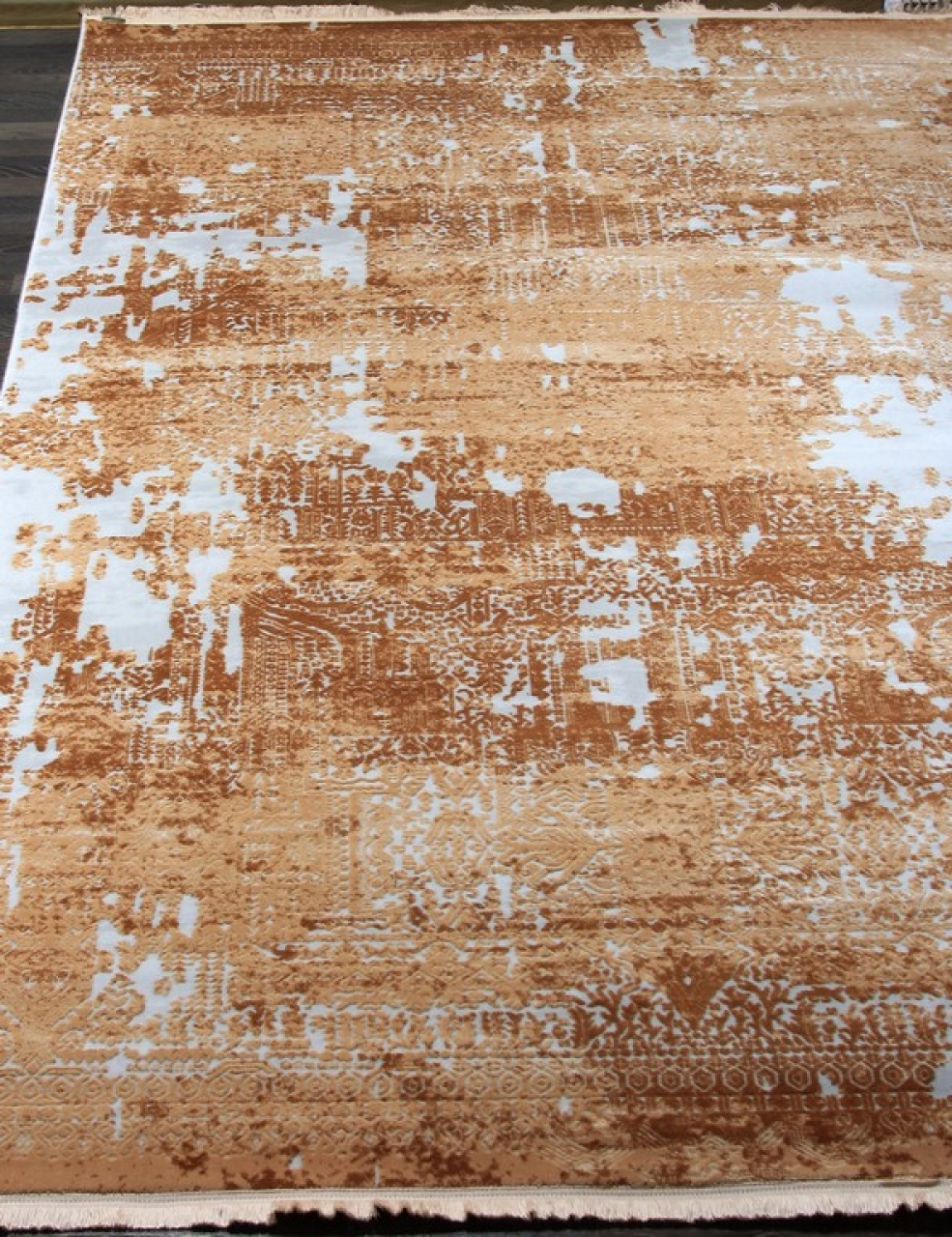 Ковер 08409C - ORANGE / ORANGE - Прямоугольник - коллекция TRUVA