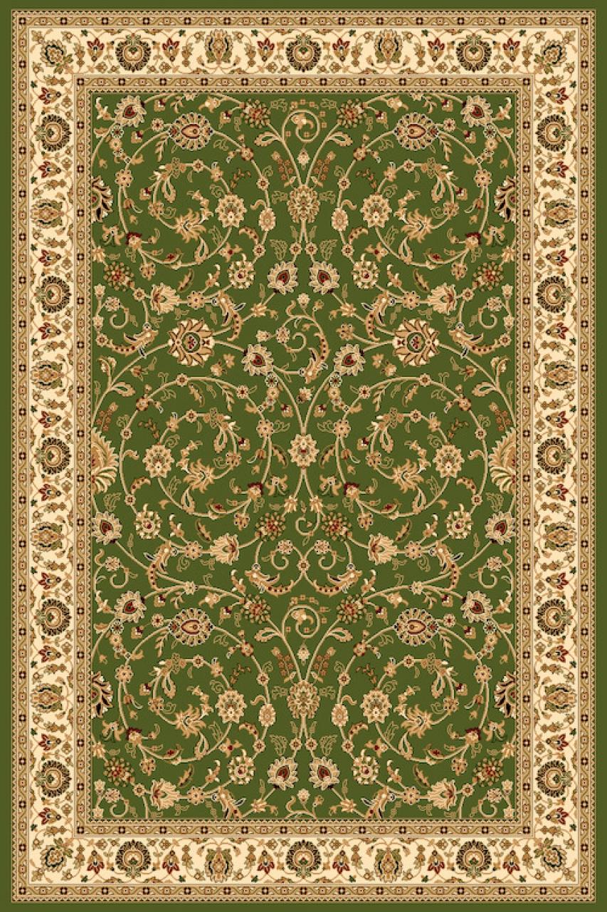 Ковер D251 - GREEN - Прямоугольник - коллекция VALENCIA 2