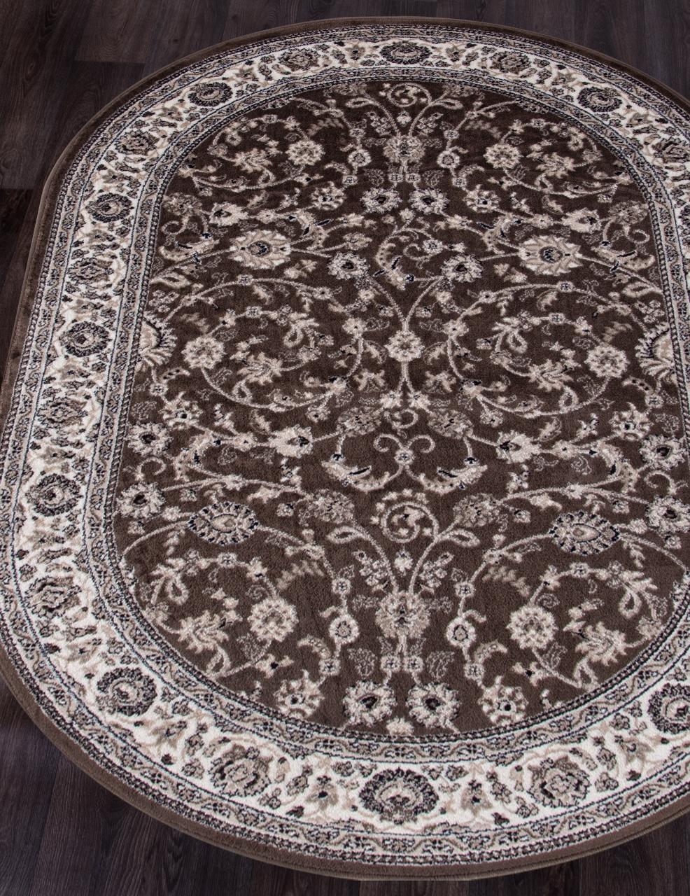 Ковер d251 - BROWN - Овал - коллекция VALENCIA DELUXE - фото 1