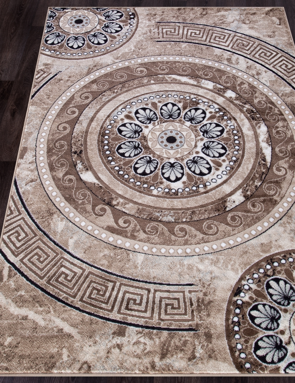 Ковер d300 - BROWN - Прямоугольник - коллекция VALENCIA DELUXE - фото 1