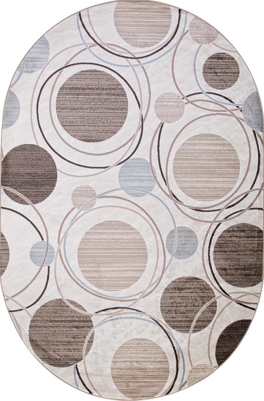 Ковер d301 - CREAM-BROWN - Овал - коллекция VALENCIA DELUXE - фото 2